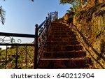 recreational park stairs | Shutterstock . vector #640212904