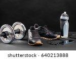 sports equipment   sneakers ... | Shutterstock . vector #640213888