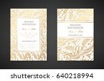 vintage wedding invitation... | Shutterstock .eps vector #640218994