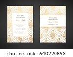 vintage wedding invitation... | Shutterstock .eps vector #640220893