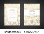 vintage wedding invitation... | Shutterstock .eps vector #640220914