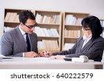 business couple having... | Shutterstock . vector #640222579