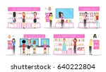 cosmetic store interior set. | Shutterstock .eps vector #640222804
