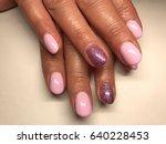 beautiful nail art close up   Shutterstock . vector #640228453