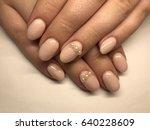 beautiful nail art close up   Shutterstock . vector #640228609