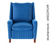 simple blue armchair isolated.... | Shutterstock . vector #640229149