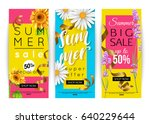 set of different summer sale... | Shutterstock .eps vector #640229644