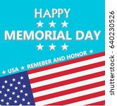 happy memorial day with usa... | Shutterstock .eps vector #640230526