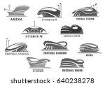 sport stadium or arena vector... | Shutterstock .eps vector #640238278