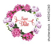 save the date greeting card... | Shutterstock .eps vector #640241260