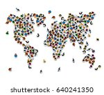 crowd of people in the form of... | Shutterstock .eps vector #640241350
