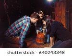 younth looking in the bucket in ...   Shutterstock . vector #640243348