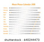 vector astrological calendar... | Shutterstock .eps vector #640244473
