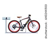 modern electric bicycle... | Shutterstock .eps vector #640244503