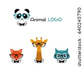logo of the animal. cartoon... | Shutterstock .eps vector #640245790