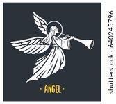 Angel God. Vector Illustration...