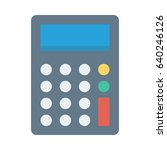 calculator  | Shutterstock .eps vector #640246126