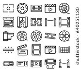 cinema icons set. set of 25... | Shutterstock .eps vector #640251130