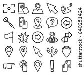 point icons set. set of 25... | Shutterstock .eps vector #640251424