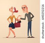 bad pickpocket man character... | Shutterstock .eps vector #640252216