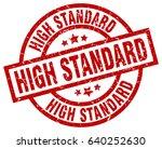 high standard round red grunge... | Shutterstock .eps vector #640252630