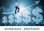 businessman in american dollar... | Shutterstock . vector #640252654