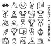 winner icons set. set of 25... | Shutterstock .eps vector #640254058