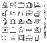 luggage icons set. set of 25... | Shutterstock .eps vector #640254274