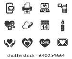 love web icons for user...   Shutterstock .eps vector #640254664