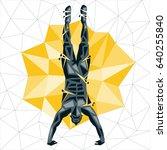 geometric crossfit concept.... | Shutterstock .eps vector #640255840