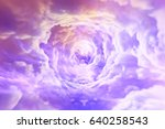 tunnel from clouds background... | Shutterstock . vector #640258543