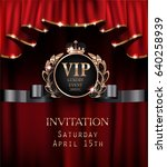 vip invitation card with red... | Shutterstock .eps vector #640258939