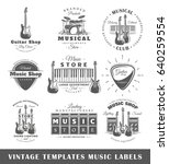 Set Of Vintage Musical Labels...