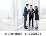 group of business people... | Shutterstock . vector #640260676
