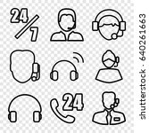 operator icons set. set of 9... | Shutterstock .eps vector #640261663