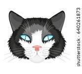 cat face illustration | Shutterstock .eps vector #640261873