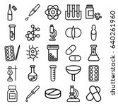 chemistry icons set. set of 25... | Shutterstock .eps vector #640261960