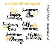 summer lettering set. hello... | Shutterstock .eps vector #640265419
