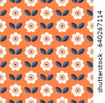 seamless retro pattern with... | Shutterstock .eps vector #640267114