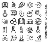 research icons set. set of 25... | Shutterstock .eps vector #640268536