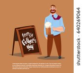 happy father day family holiday ... | Shutterstock .eps vector #640269064