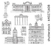 berlin. vector sketch  town.... | Shutterstock .eps vector #640271608
