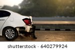 car accident damaged on the... | Shutterstock . vector #640279924