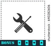 repair icon flat. simple vector ...