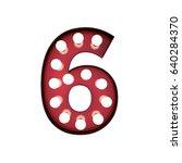 3d rendering red bulb type... | Shutterstock . vector #640284370