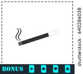 cigarette icon flat. simple... | Shutterstock .eps vector #640286038