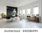 functional office with... | Shutterstock . vector #640286494
