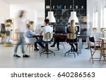 people working in modern ... | Shutterstock . vector #640286563