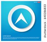 upper arrow icon   Shutterstock .eps vector #640286833