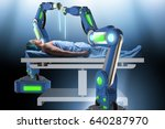 surgery performed by robotic arm | Shutterstock . vector #640287970